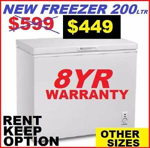 Freezer Chest New 200Ltr. 8 YEAR WARRANTY. ALL SIZES AVAILABLE. Ipswich Region Preview