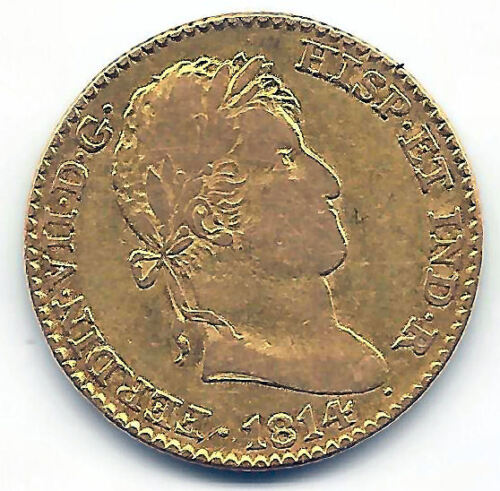 Fernando Vii 2 Shields 1814 Madrid (g).j. Gold @ Very Bella @