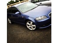 Audi A3 2.0ltr TFSI S line Quattro Special Edition Denim Blue NOT golf GTI Seat Leon FR Civic Type R