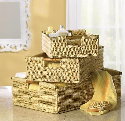 Basket - LOT Of 3 Storage BASKETS Set - New on Rummage