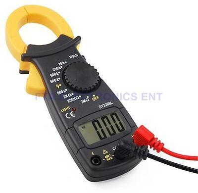 Acdc Multimeter Electronic Tester Digital Clamp Volt Meter Ohms Large Display