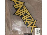 Anthrax Shaped picture disc