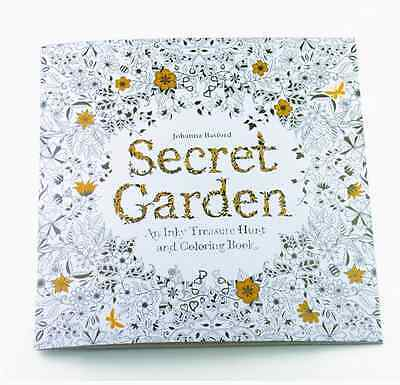 Secret Garden An Inky Treasure Hunt and Coloring Book by Johanna Basford on Rummage