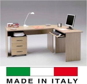 ... su Postazione - Scrivania + Allungo + cassettiera mobili per ufficio