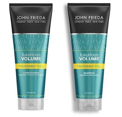 2x John Frieda LUXURIOUS VOLUME Touchably Full SHAMPOO & CONDITIONER, 2x 250 ml