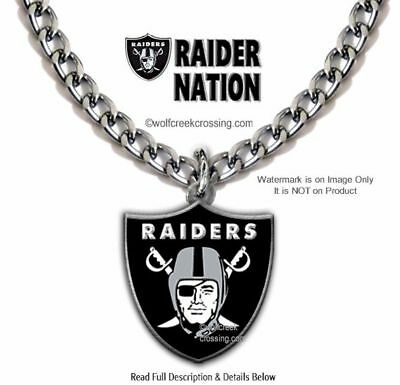 LOUD PROUD OAKLAND RAIDERS NECKLACE - NFL FOOTBALL SPORTS 24