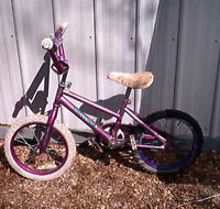 Purple girls bike