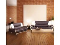 **GET TODAY**BRAND NEW ITALIAN EDITION 3 AND 2 SEATER LEATHER SOFA SET**ON SALE**