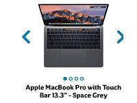 """Apple MacBook Pro with Touch Bar 13.3"""" - Space Grey Brand new"""