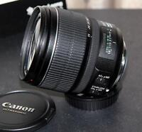 new canon EF S 15 85 IS USM zoom lens with hood