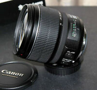 canon EF S 15 85 IS USM zoom lens with hood
