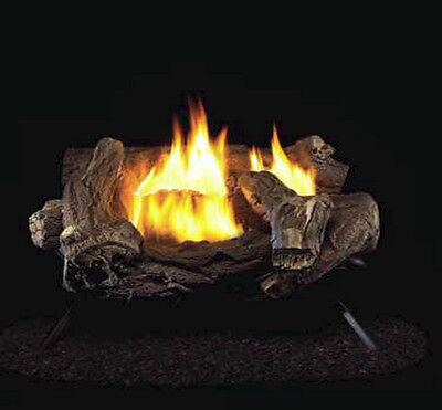 Procom Split Hickory Ventless Gas Logs  Manual Control  18  Natural Gas Only