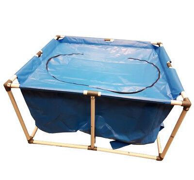 Koi Fish Quarantine Tank w/ Zipper Top Cover, 4FT x 3FT x 2FT (120x100x70cm)