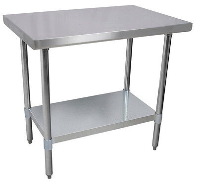 24 x 48 Commercial Kitchen Stainless Steel Work Prep Table NSF on Rummage