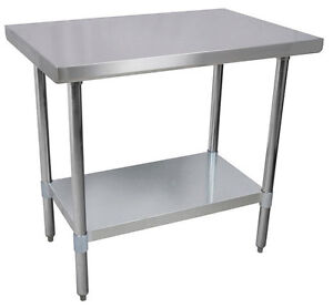 24 x 48 Commercial Kitchen Stainless Steel Work Prep Table NSF