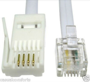 10M, BT PLUG TO RJ11 CABLE,STRAIGHT WIRED TELEPHONE LINE CORD, MODEM ROUTER LEAD