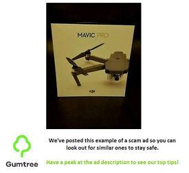 Mavic pro drone -- Read the description before replying to the ad!!!