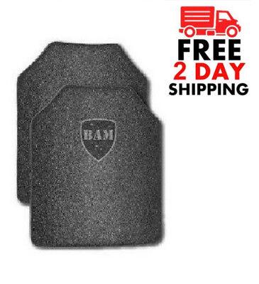 Body Armor | AR500 Steel Plates | Base Frag Coating | Level III 10x12- PAIR
