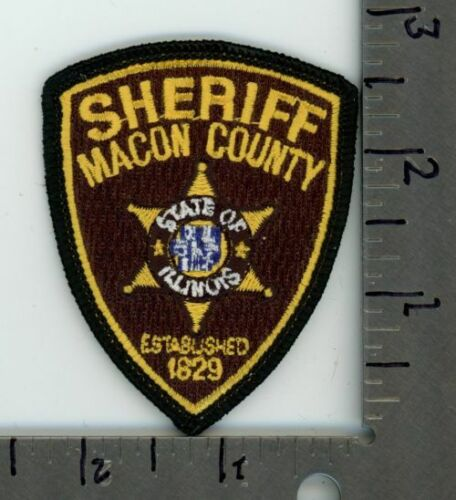 MACON COUNTY SHERIFF ILLINOIS IL NEW PATCH POLICE CAP SIZE