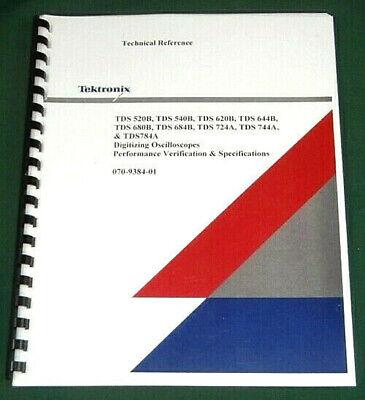 Tektronix Tds520b Tds540b Technical Manual Comb Bound Plastic Covers