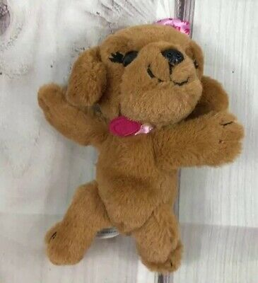 Barbie Great Puppy Adventure Plush Brown Dog Pink Collar And Bow Stuffed Toy 8""