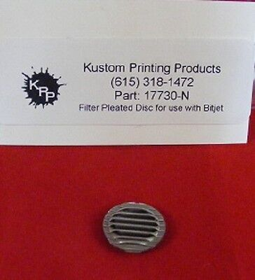 17730 Filter 5 Micron Pleated Disc For Use With Bitjet Printer Qty-1