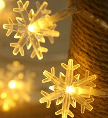 Snowflake Fairy String Curtain Window Light Christmas Wedding Decor 3M 20LED  ()