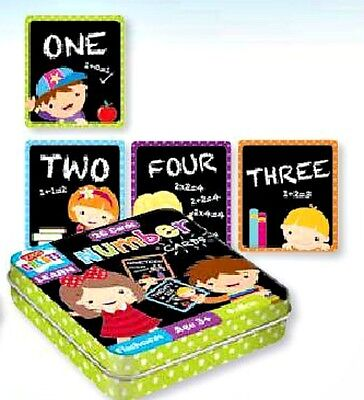 26 x Numbers Cards in tin game LEARN with FUN Educational Toy AGE 3+ nursery