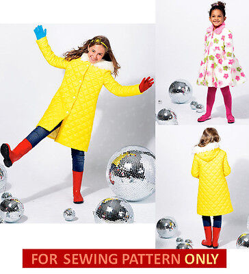 SALE! SEWING PATTERN! MAKE GIRLS LINED COAT! HOOD~COLLAR!  FALL~WINTER CLOTHES! (Girls Winter Clothes Sale)