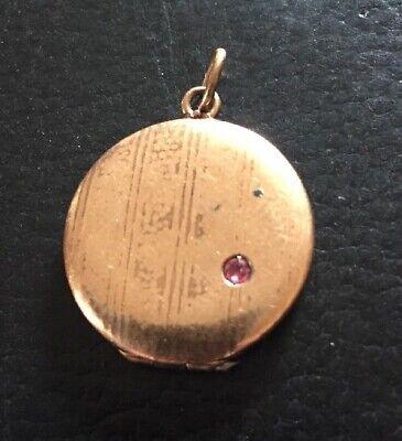 Antiguo Estilo Moderno Oro Doble Medallón con Piedra de Joyería