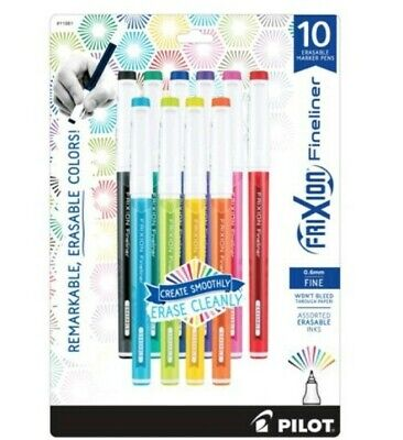 Pilot Frixion Finelinererasable Assorted Ink Marker Pensfine 0.6mm New