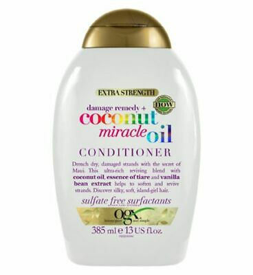 OGX Extra Strength Damage Remedy + Coconut Miracle Oil Conditioner 385ml