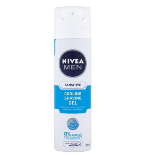2 x Nivea Men Sensitive Cooling Shaving Gel 200ml