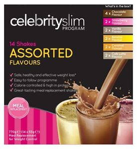 Celebrity Slim 7 Day Assorted Shakes  (14 x 55g Shake Sachets)