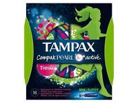Tampax pearl super active fresh boxes 18× must go