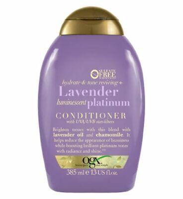 OGX Hydrate & Color Reviving + Lavender Luminescent Platinum Conditioner 385ml