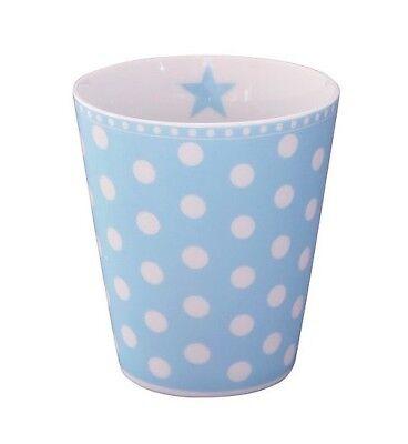 Becher MUG New dot baby blue blau weiss gepunktet HM163  Krasilnikoff  Blau Weiß Mugs