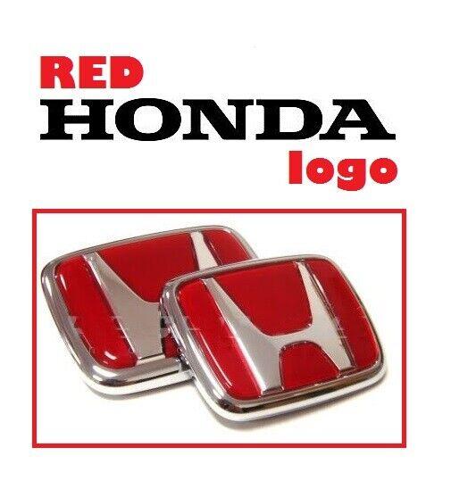 Red Honda Emblem JDM Style Type R Civic Acura Integra RSX