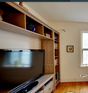 BEAUTIFUL TV STAND AND BOOKSHELVES UNIT!!