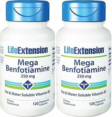 250 Mg 120 Vegetarian Capsules (Life Extension Mega Benfotiamine Capsule 250 Mg 120 Vegetarian Capsules 2Bottles )