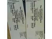 2 cirlce tickets for the Chemical Brothers on the Sunday 11th of December at Eventim Apollo, London
