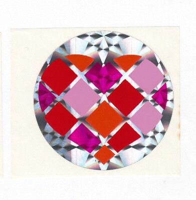 Vintage Heart Prism Sticker - Prismatic Pink Purple Checkered Argyle