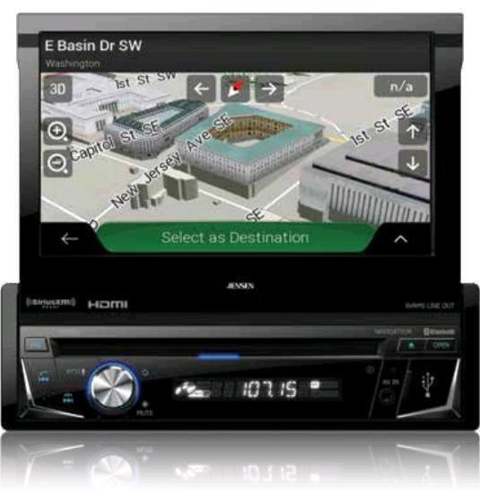 "Jensen VX7014 Single Din 7"" TFT Multimedia Receiver w/ CarPlay RB"