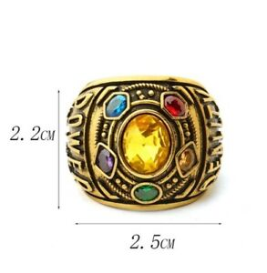 Novelty Infinity Gauntlet Power Ring Avengers Crystals