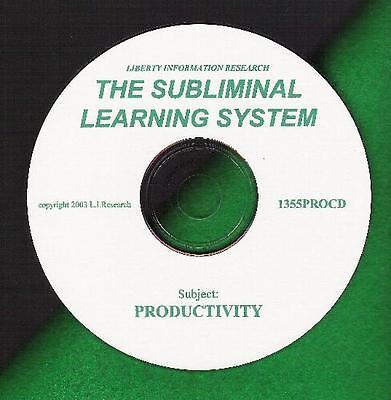 Motivation Productivity Subliminal Learning System