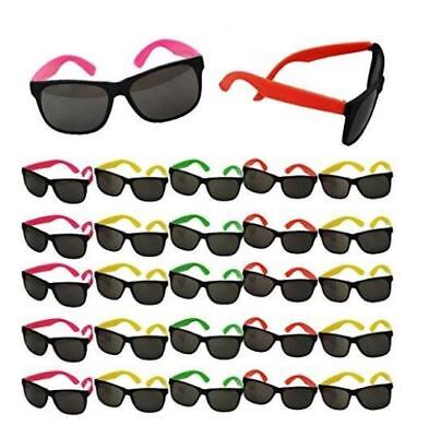 80s Party Neon Prop Sunglasses Pool Party Fillers Beach Party Luau Favors BULK](Neon 80s)