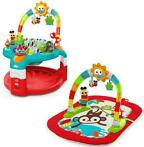 Bright Starts 2-in-1 Silly Sunburst Activity Gym & Saucer...