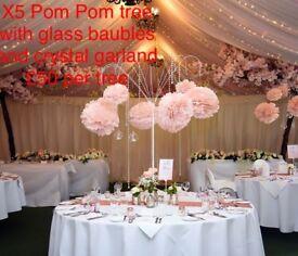 Pom Pom tree x5
