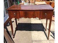 Mahogany pedestal / writing table / desk antique