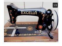 Vintage antique Excella sewing machine